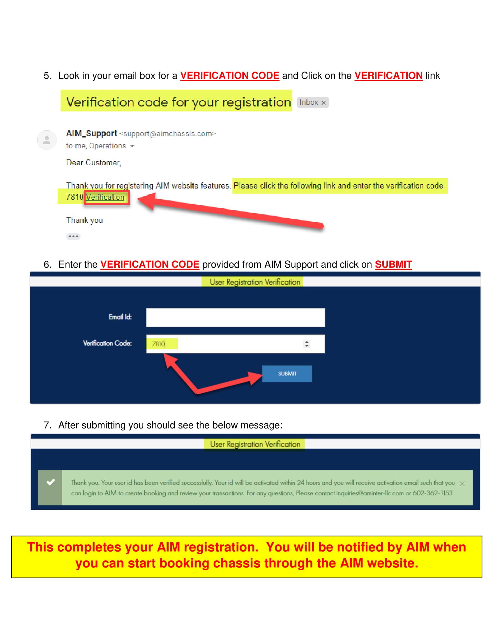 Registration | AIM Chassis
